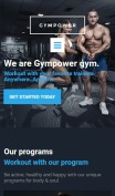 Fitness Website Design - GymPower - mobile preview