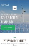 Solar Energy Website Design - Activax - mobile preview