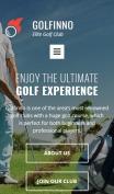 Golf Website Design - Golfinno - mobile preview