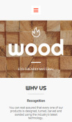 Wood Website Design - mobile preview