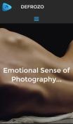 Photography Portfolio Theme - Defrozo - mobile preview