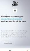 Dance Studio Website Design - MC - mobile preview