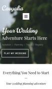 Wedding Planner Website Design - Cavyalia - mobile preview