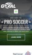 Soccer Website Design - Goal - mobile preview