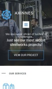 Manufacturing Website Design - Axinnes - mobile preview