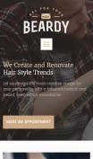 Barber Shop Website Design - Beardy - mobile preview