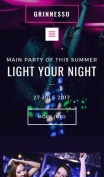 Night Club Website Design - Grinnesso - mobile preview
