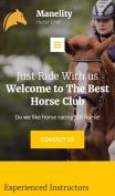Equine Website Design - Manelity - mobile preview