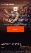 Clan Website Design - WorldPandaria - mobile preview