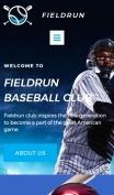 Baseball Website Design - Fieldrun - mobile preview
