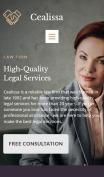 Attorney Website Design - Cealissa - mobile preview