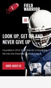Football Website Design - Field Warrior - mobile preview