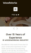 Woodworking Website Design - mobile preview