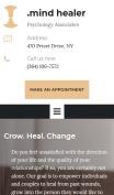 Doctor Website Design - Mind Healer - mobile preview