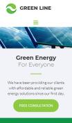 Renewable Energy Website Design - Green Line - mobile preview