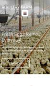 Poultry Farm Web Design - PoultryFarm - mobile preview