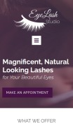 Beauty Salon Website Design - Eyelasher - mobile preview
