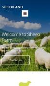 Best Agriculture Website Design - Sheepland - mobile preview