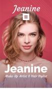 Makeup Artist Website Design - Jeanine - mobile preview