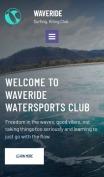 Surfing Website Design - Waveride - mobile preview