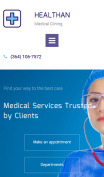 Medical Clinic Website Design - Healthan - mobile preview