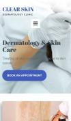 Dermatology Website Design - Clear Skin - mobile preview