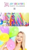 Birthday Website Design - Joy Creators - mobile preview