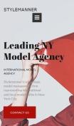 Modeling Website Design with Models Portfolio - mobile preview