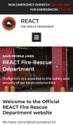 Fire Department Website Design - React - mobile preview