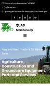 Tractor Website Design - mobile preview
