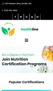 Nutrition Website Design - Healthline - mobile preview