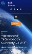 Conference Website Design - Tech Summit - mobile preview