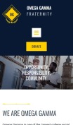 Fraternity Website Design - Omega Gamma - mobile preview