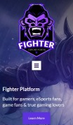 Esports Website Design - Fighter - mobile preview