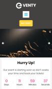 Event Website Design - Eventy - mobile preview