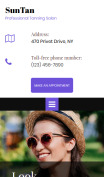 Tanning Salon Web Design - SunTan - mobile preview
