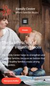 Family Center Website Design - mobile preview