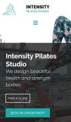 Pilates Studio Website Design - mobile preview