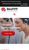 Call Center Website Design - mobile preview
