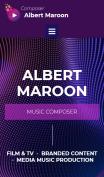 Music Composer Website Design - mobile preview