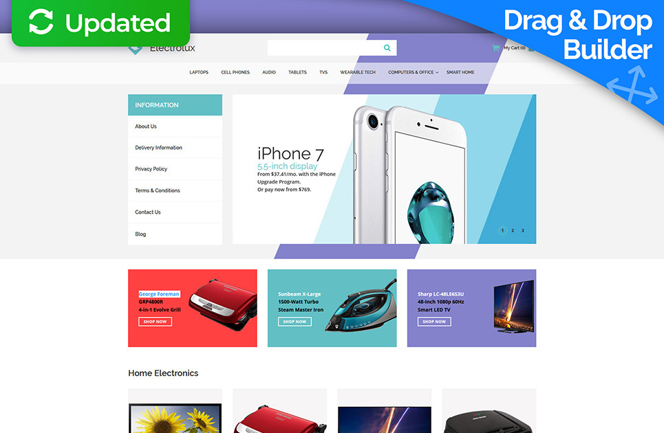 Electronic Shop Website Template for Online Store - MotoCMS