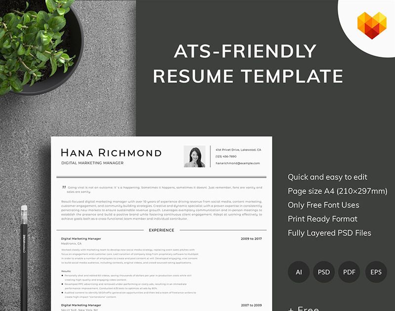 Digital Marketing Resume Template from cdn.motocms.com