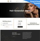 Hair Extension Website Design - image
