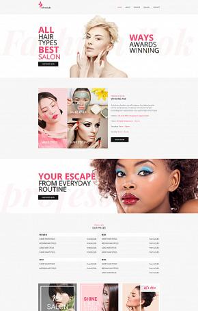 Feminine Website Template for Beauty Salon