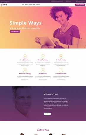 Psychology Website Template for Counseling Center