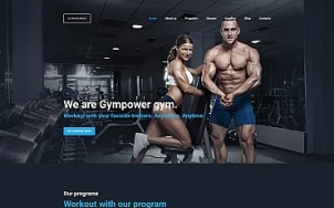 Fitness Website Design - GymPower - tablet image