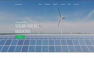 Solar Energy Website Design - Activax - tablet image