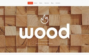 Wood Website Design - tablet image