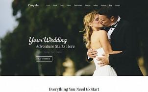 Wedding Planner Website Design - Cavyalia - tablet image