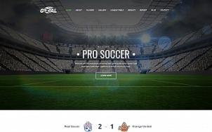 Soccer Website Design - Goal - tablet image